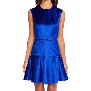 NEW Ted Baker Mayann Cobalt Blue Velvet Bow Dress
